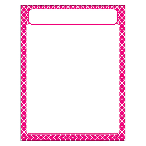 T38604 Learning Chart Moroccan Pink