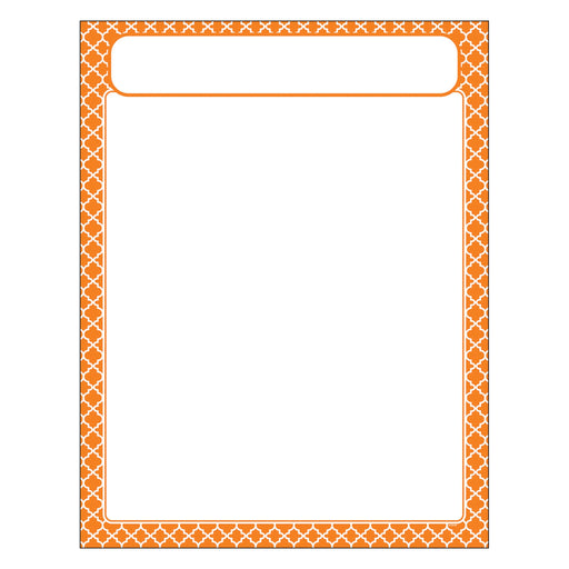 T38605 Learning Chart Moroccan Orange