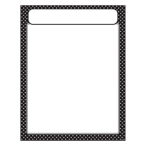 T38616 Learning Chart Polka Dot Black
