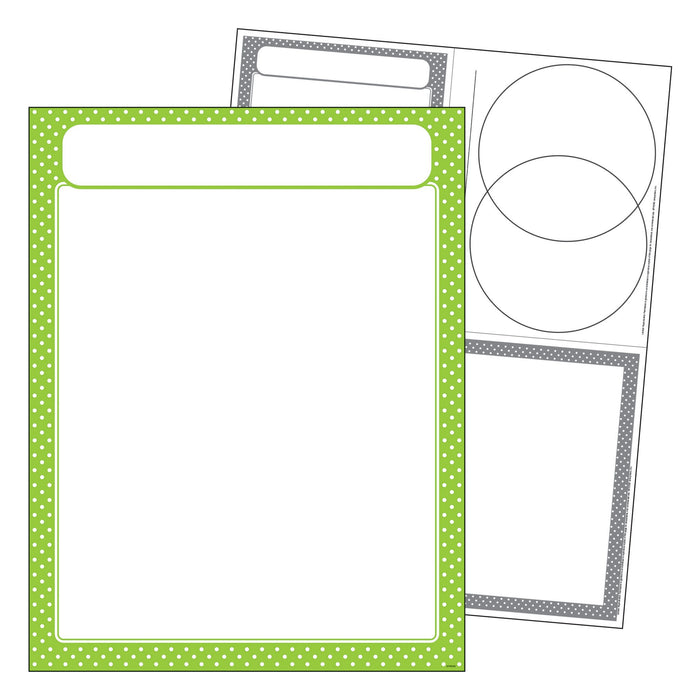 T38617 Learning Chart Polka Dot Lime