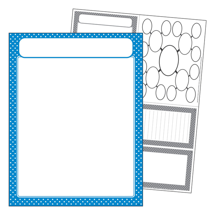 T38618 Learning Chart Polka Dot Blue