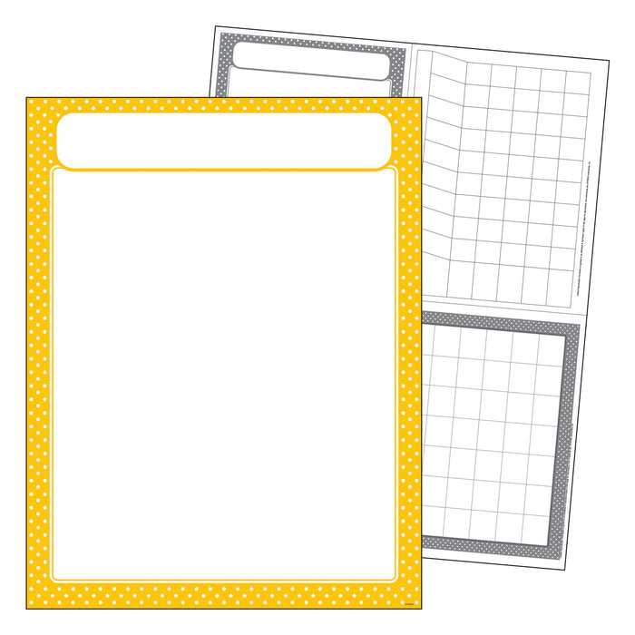 T38619 Learning Chart Polka Dot Yellow