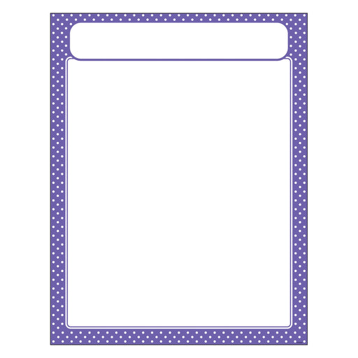T38620 Learning Chart Polka Dot Purple