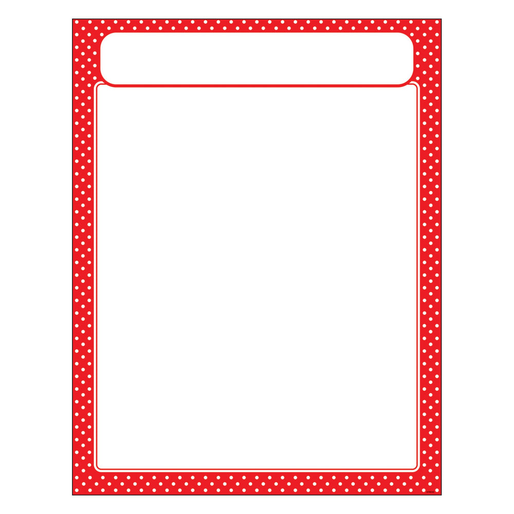T38621 Learning Chart Polka Dot Red