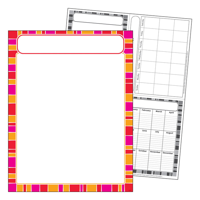 T38631 Learning Chart Stripe Snazzy