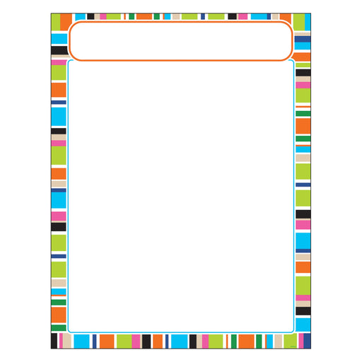T38632 Learning Chart Stripe Party