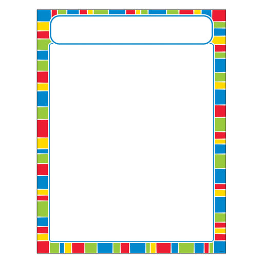 T38633 Learning Chart Stripe Cheerful