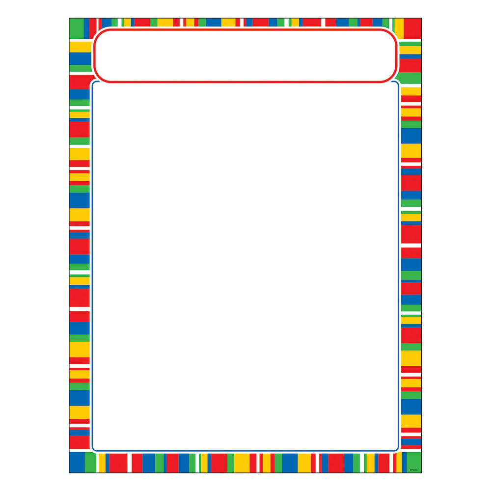 T38634 Learning Chart Stripe Candy