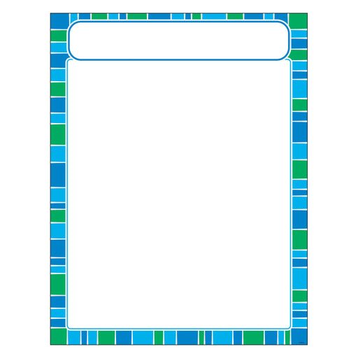T38635 Learning Chart Stripe Cool Blue