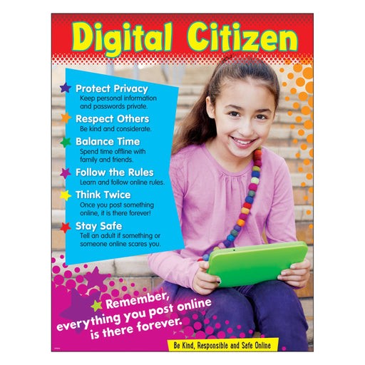 T38641 Learning Chart Digital Citizen Primary