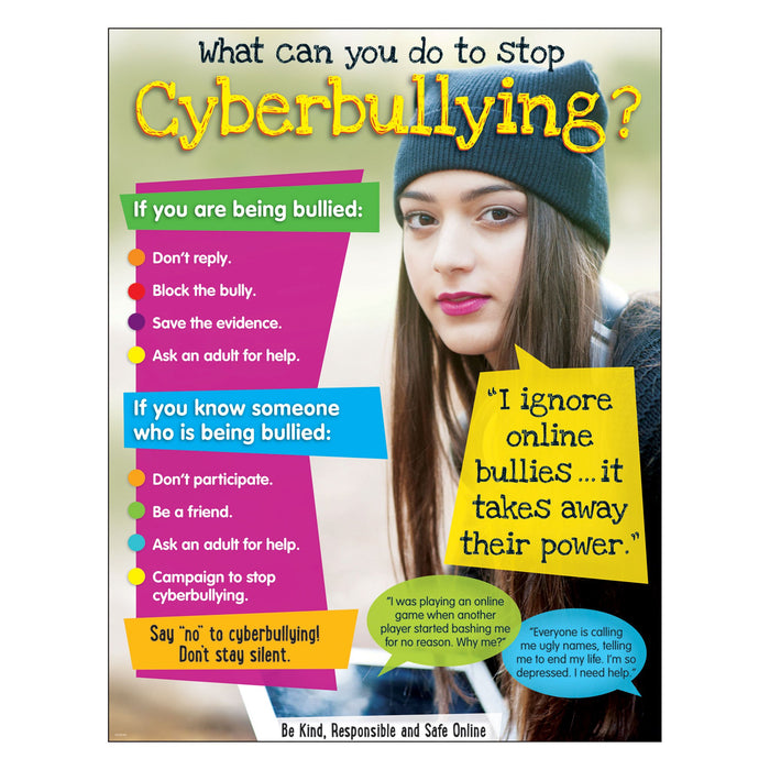 T38643 Learning Chart Cyberbullying Secondary