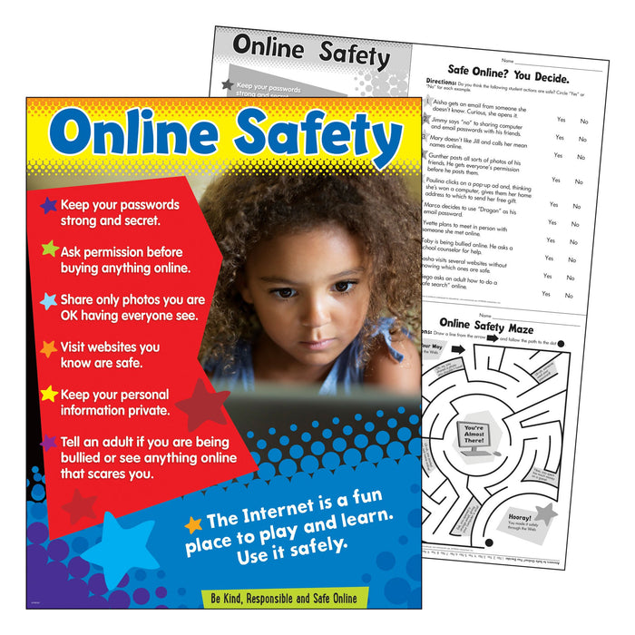 T38645 Learning Chart Online Safety Primary