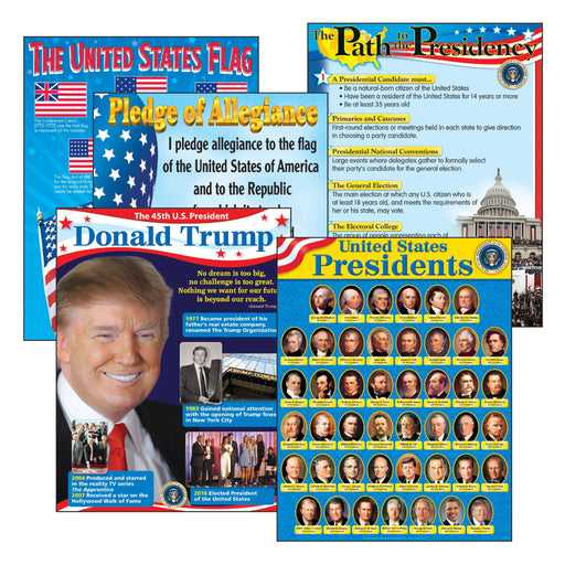 T38958 Learning Chart 5 Pack United States Presidents