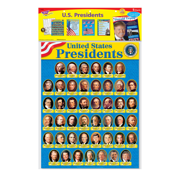 T38958 Learning Chart 5 Pack United States Presidents Package