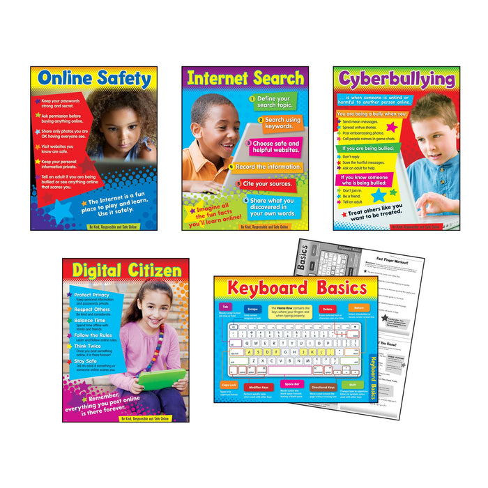 T38961 Learning Chart 5 Pack Technology Primary