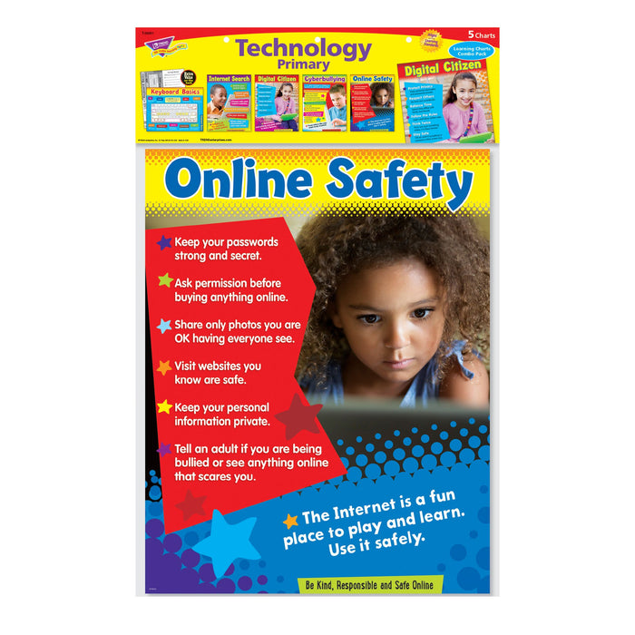 T38961 Learning Chart 5 Pack Technology Primary Package
