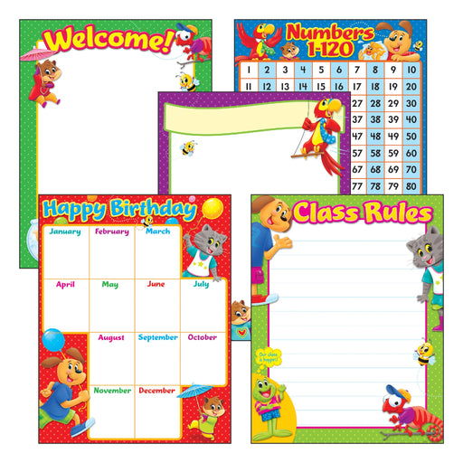 T38965 Learning Chart 5 Pack Classroom Basic Pets