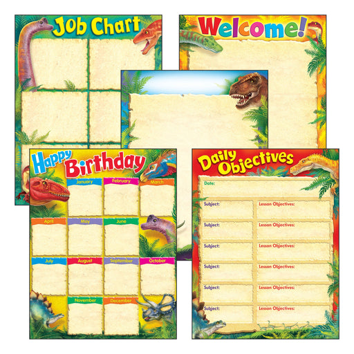 T38978 Learning Chart 5 Pack Discover Dinosaur