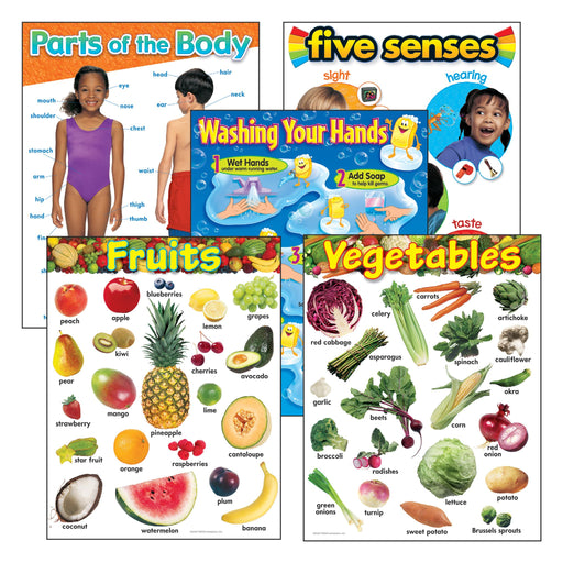 T38980 Learning Chart 5 Pack Healthy Living