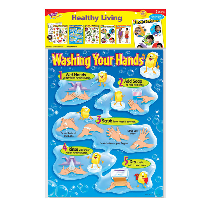 T38980 Learning Chart 5 Pack Healthy Living Package