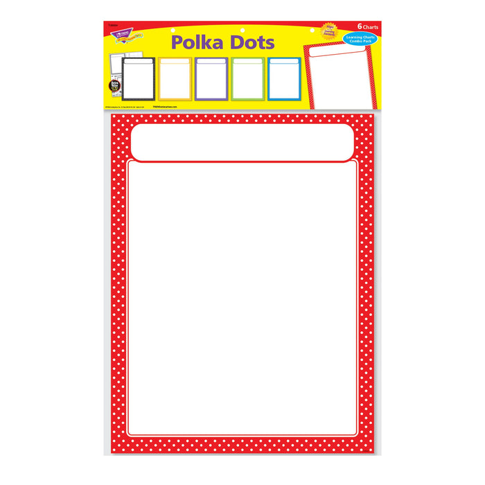 T38984 Learning Chart Pack Polka Dots Package