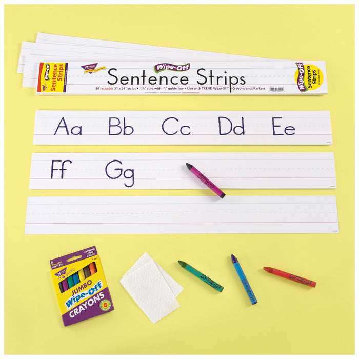 T4001 Wipe Off Sentence Strip White