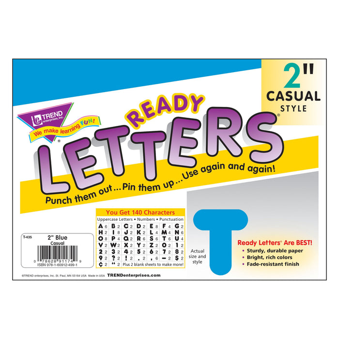 T435 Letters Inch Casual Blue Package