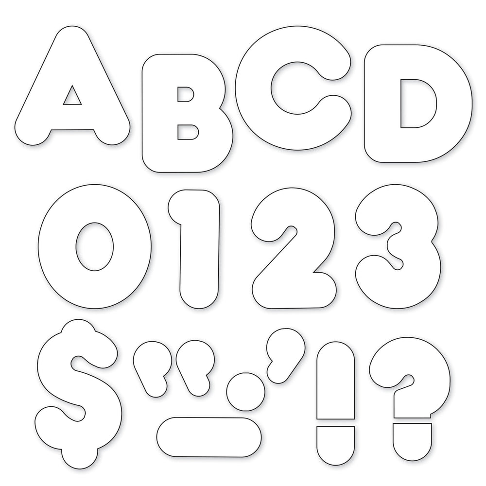 T436 Letters Inch Casual White