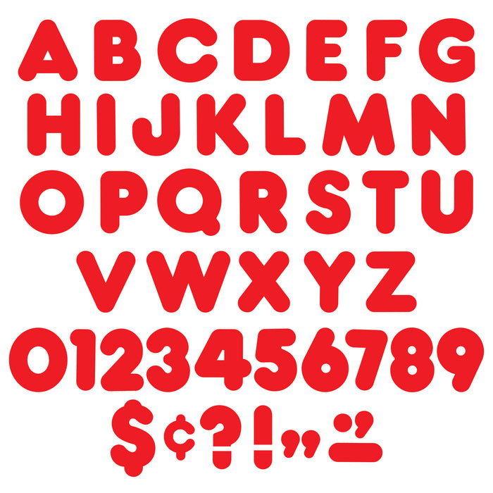 T457 Letters 4 Inch Casual Red Alphabet