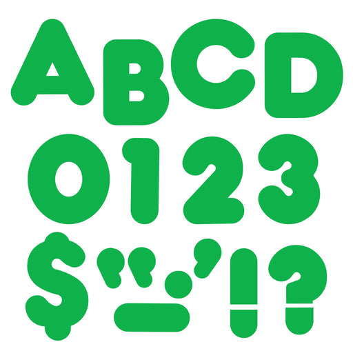 T458 Letters 4 Inch Casual Green