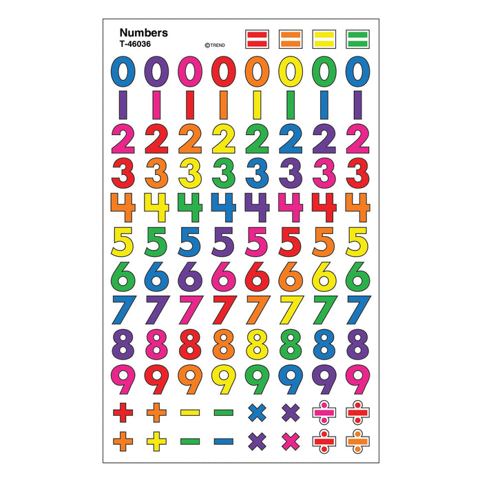 T46036 Stickers Chart Numbers