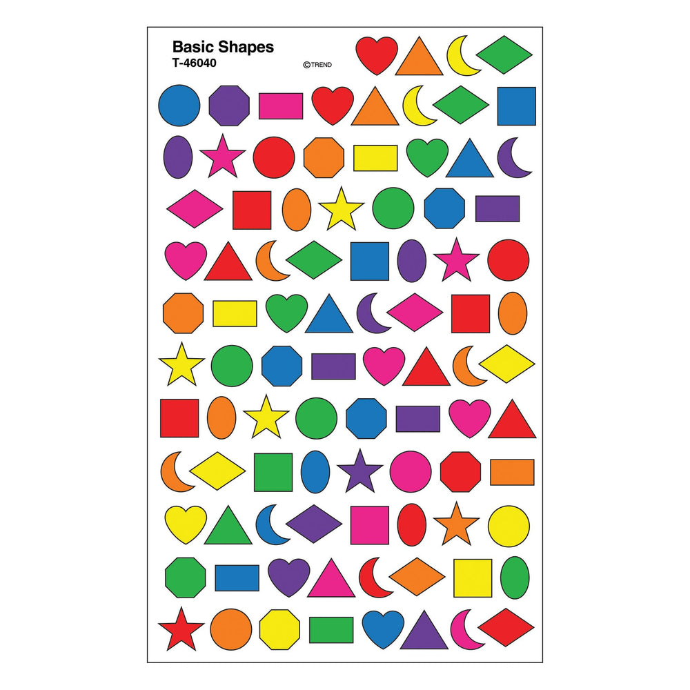 T46040 Stickers Chart Basic Shapes