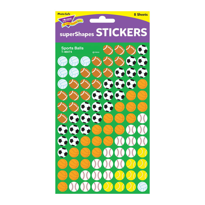 T46074 Stickers Chart Sports Balls Package