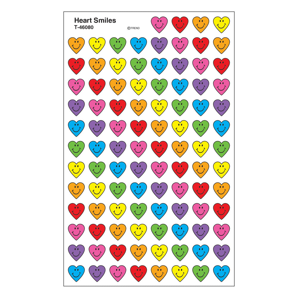 T46080 Stickers Chart Heart Smiles