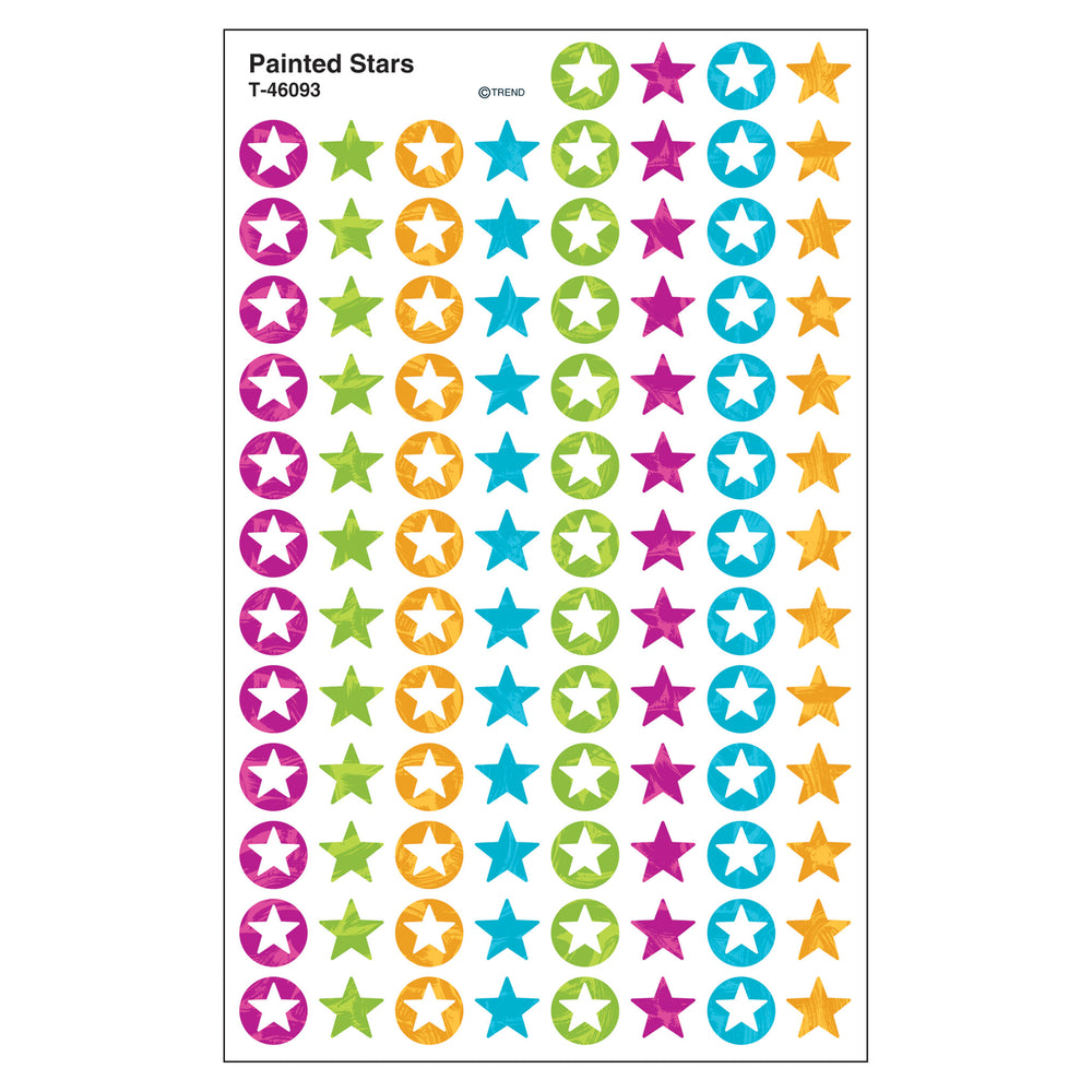Color Harmony™ Painted Stars superShapes Stickers