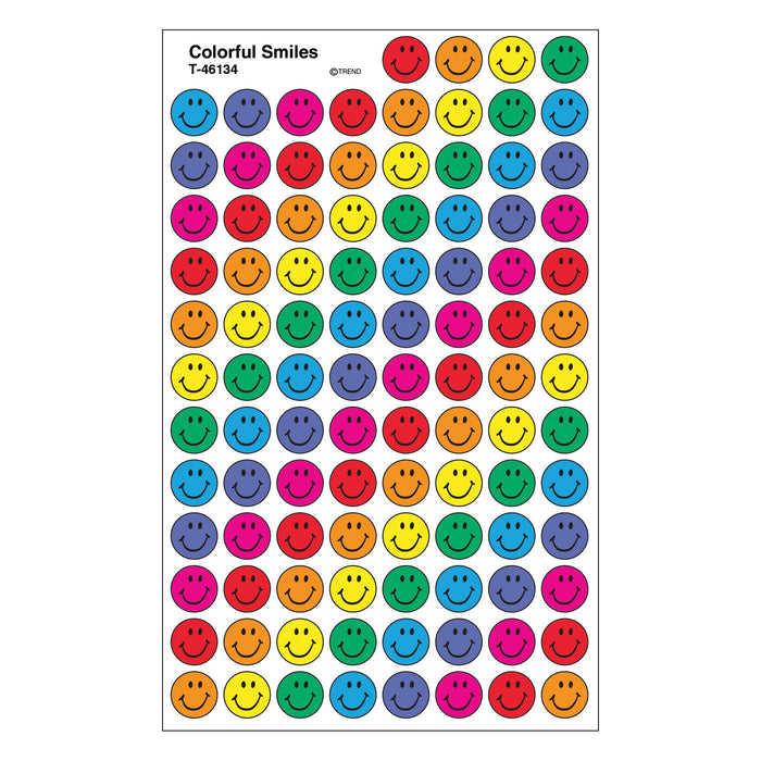 T46134 Stickers Chart Colorful Smiles
