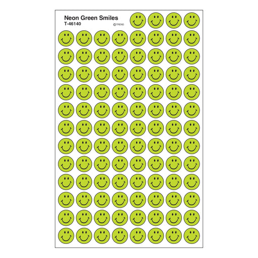 T46140 Stickers Chart Neon Green Smile