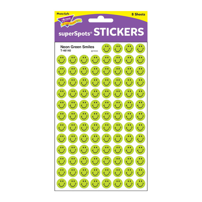 T46140 Stickers Chart Neon Green Smile Package