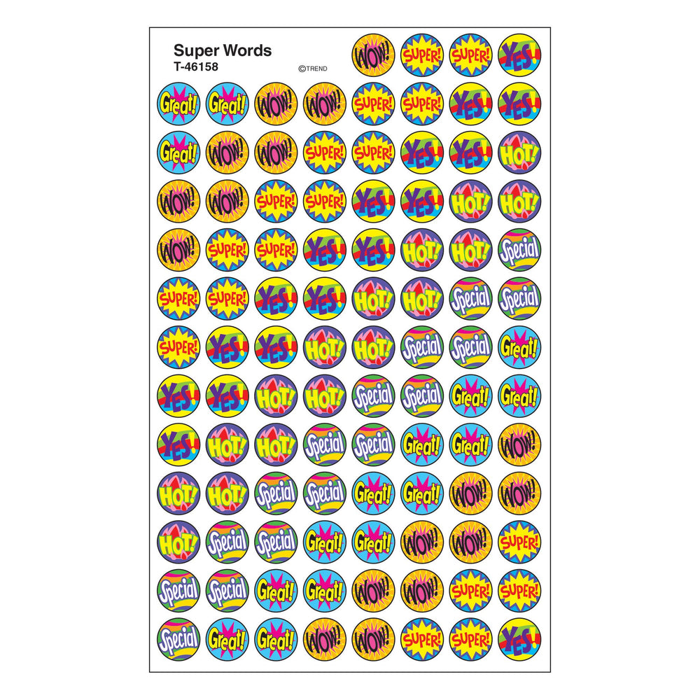 T46158 Stickers Chart Super Words