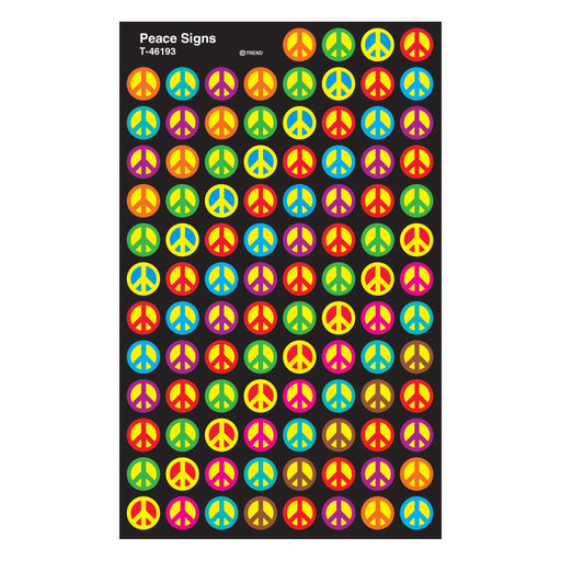 T46193 Stickers Chart Peace Signs