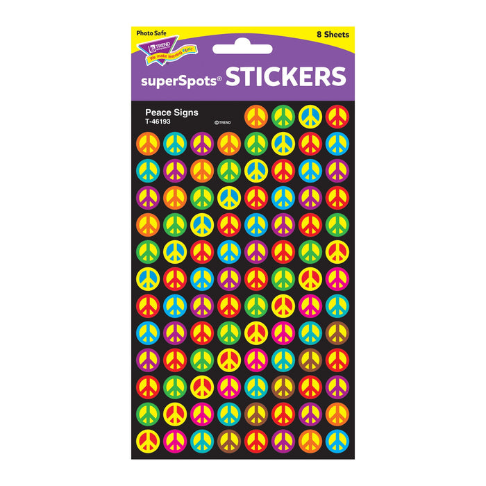 T46193 Stickers Chart Peace Signs Package