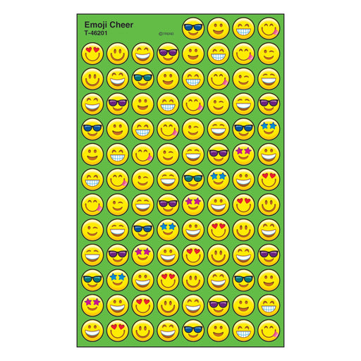 T46201 Stickers Chart Emoji Smiles