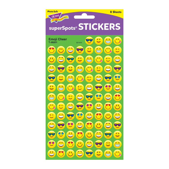 T46201 Stickers Chart Emoji Smiles Package