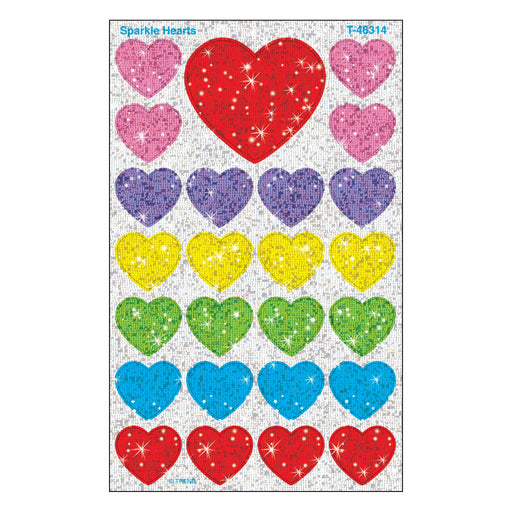T46314 Stickers Sparkle Hearts