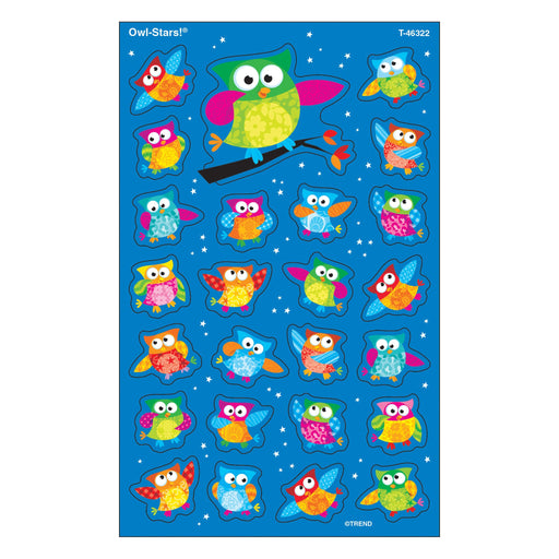 T46322 Stickers Owl Stars