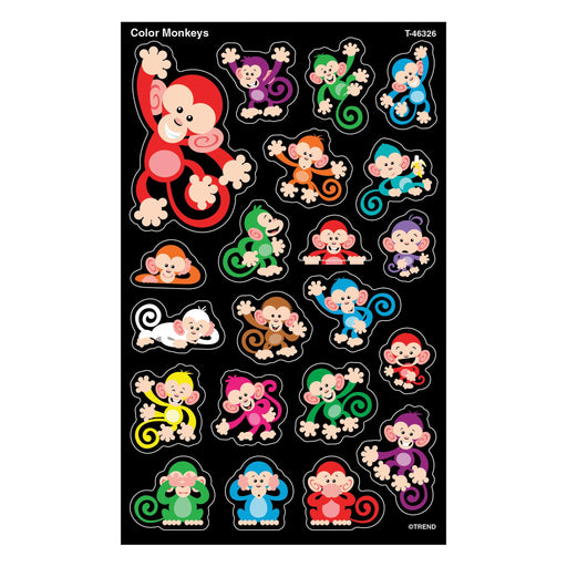 T46326 Stickers Color Monkeys