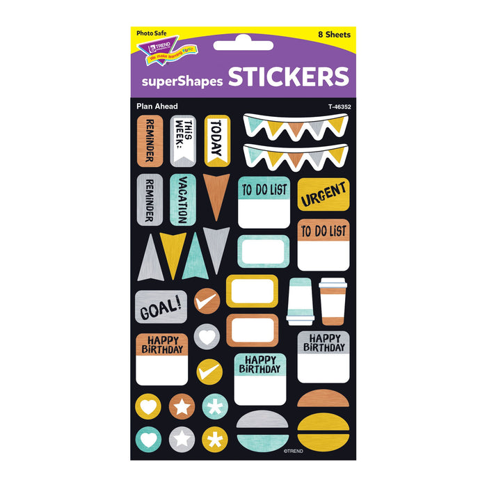 T46352 Stickers Metal Plan Ahead Package