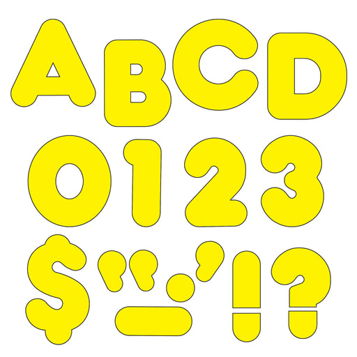 T464 Letters 4 Inch Casual Yellow