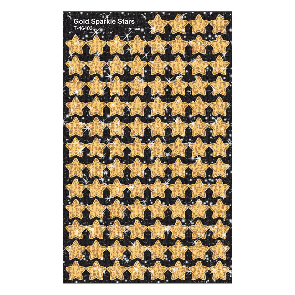 T46403 Stickers Sparkle Gold Stars