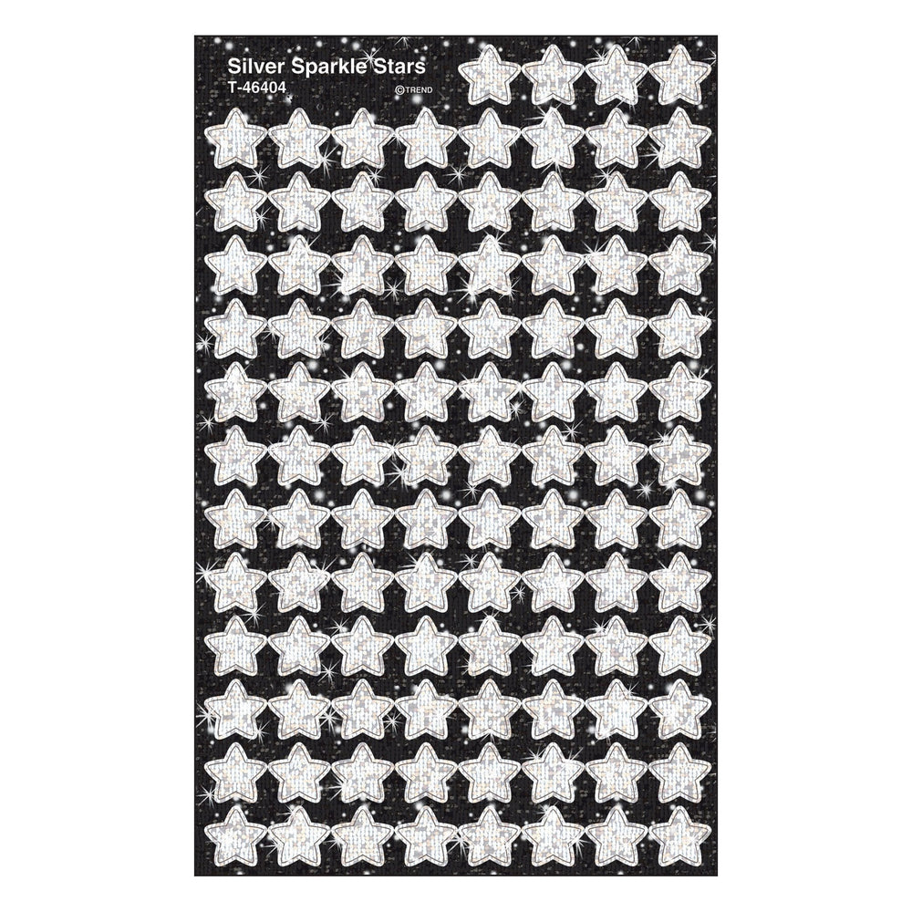T46404 Stickers Sparkle Silver Stars